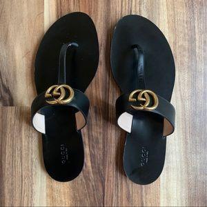 Gucci Black Marmot Sandals Size (10) 41